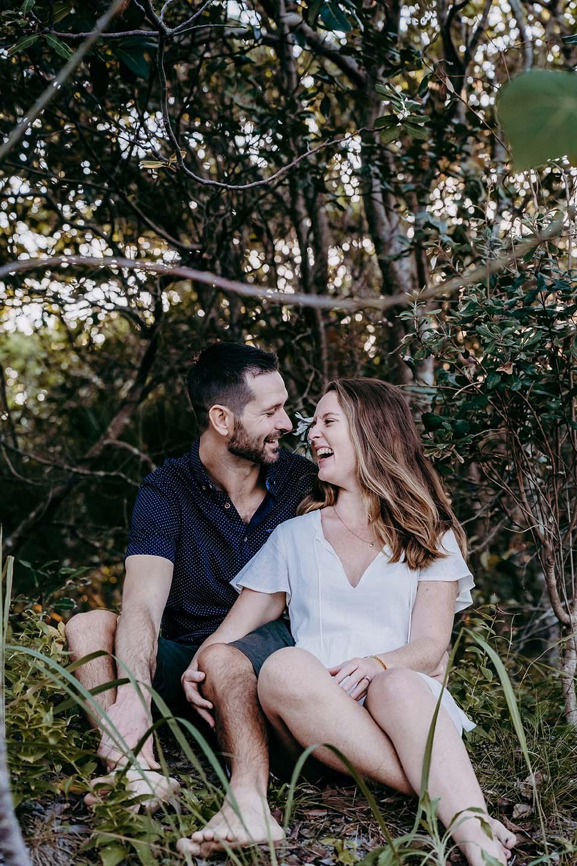 Engagement Photography - couple embrace under tree