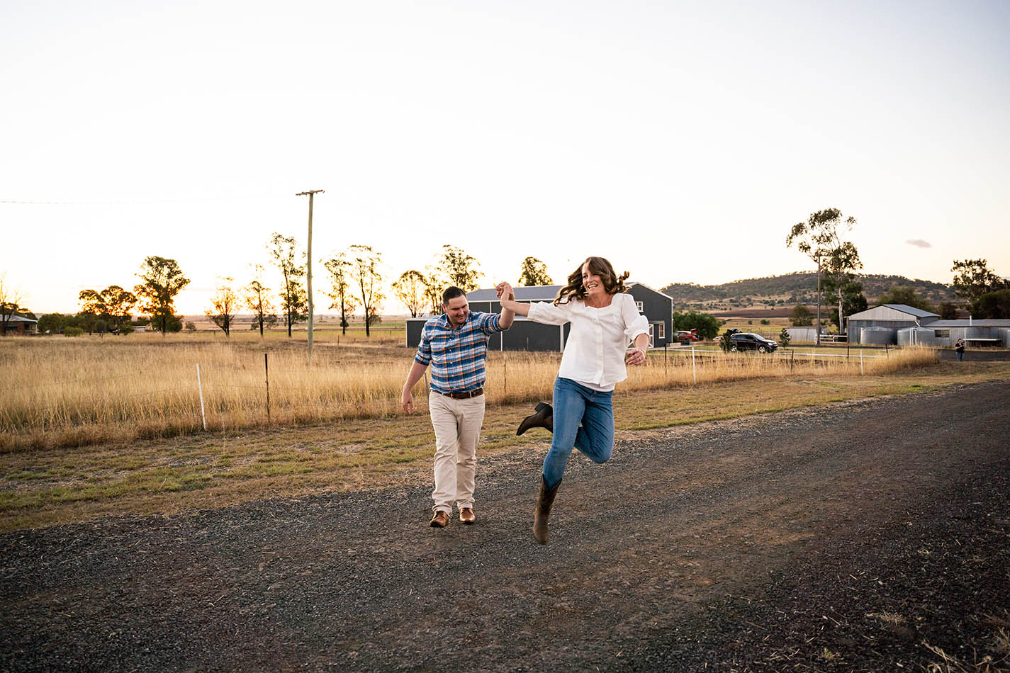 Engagement Photography - finance jumping