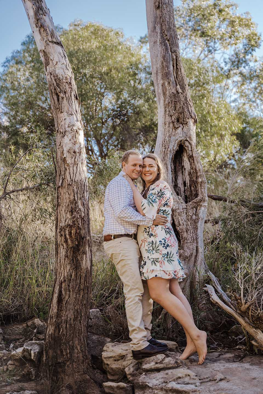 Engagement Photography - couple among trees