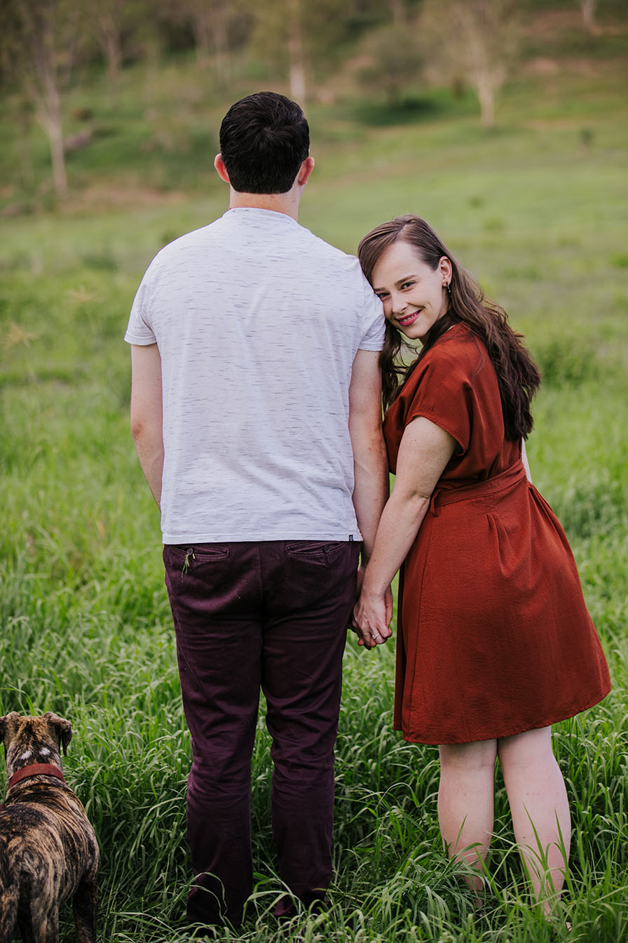 Engagement Shoot - couple in field