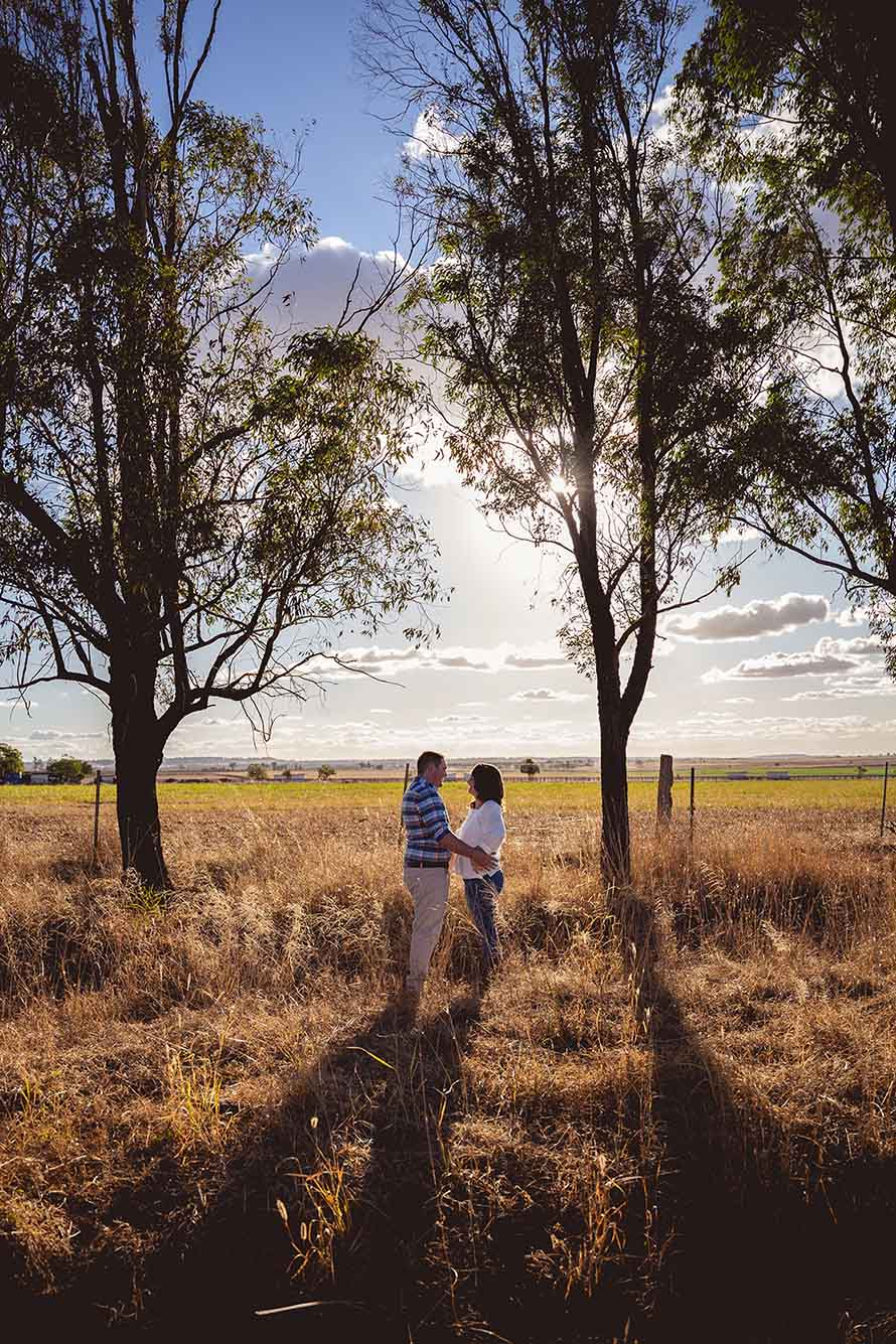 Engagement Photography - couple in field