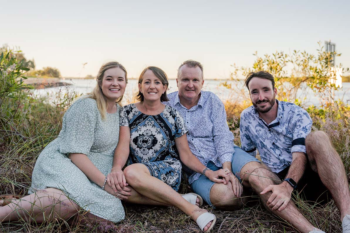 Family Photography in front of water