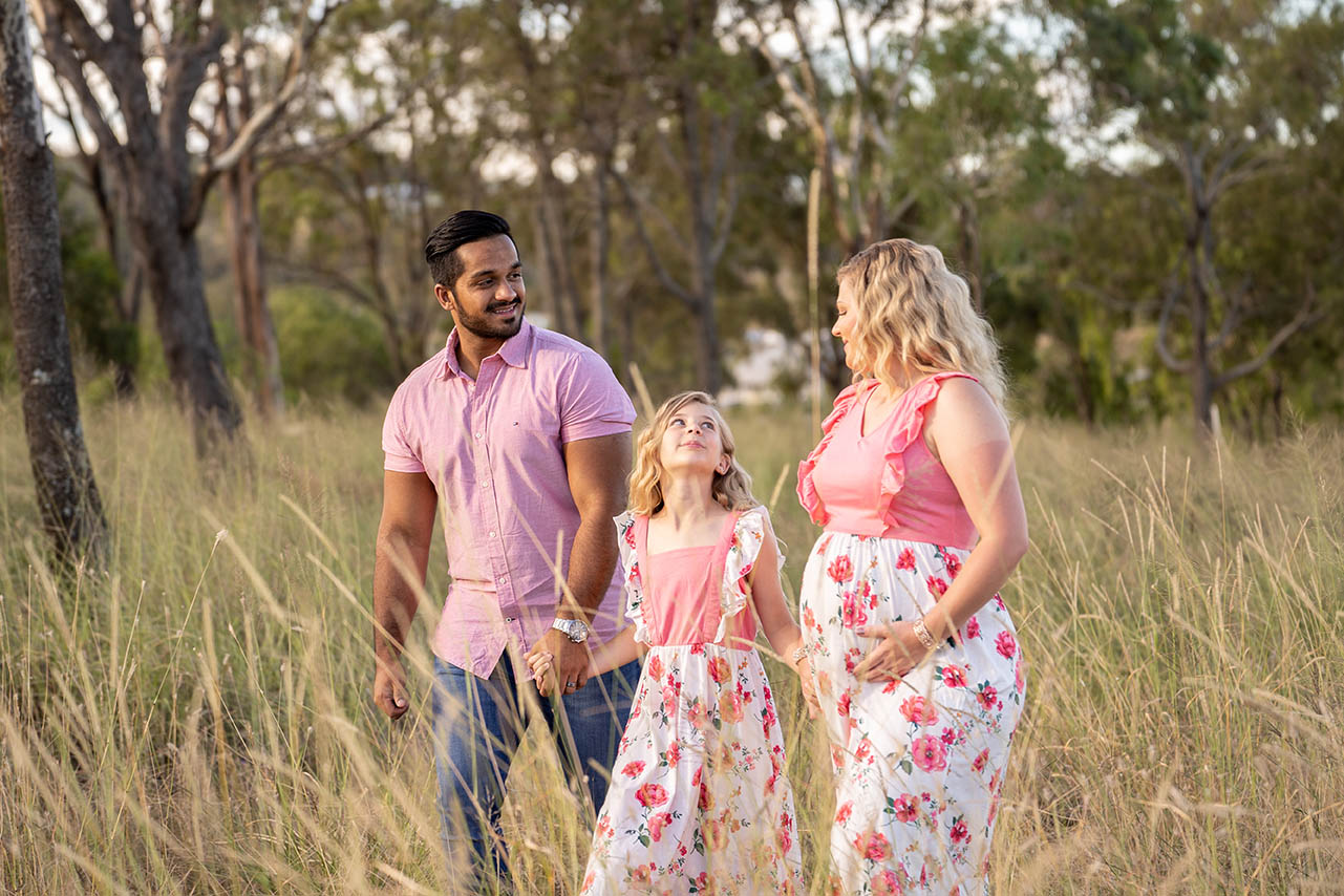 Maternity Photography - Family Holding Hands