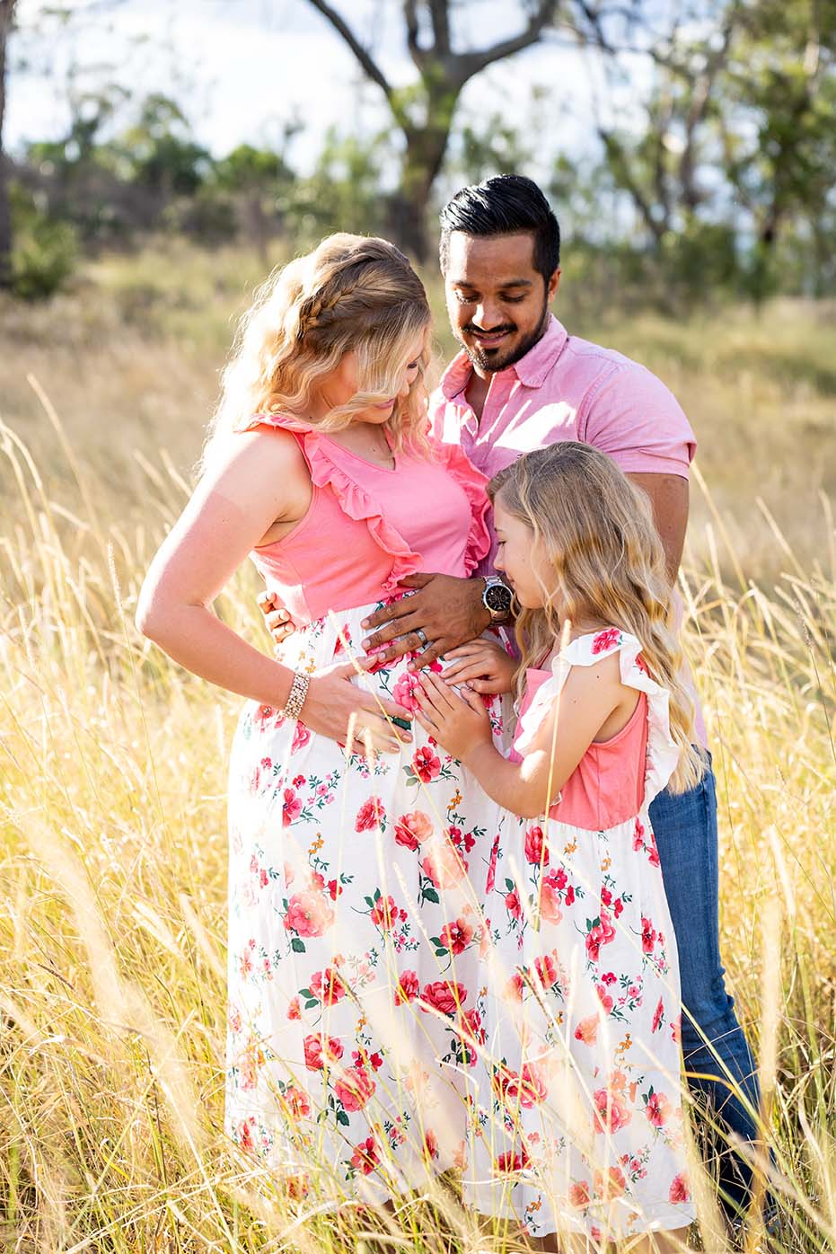 Maternity Photography - Family Hugging