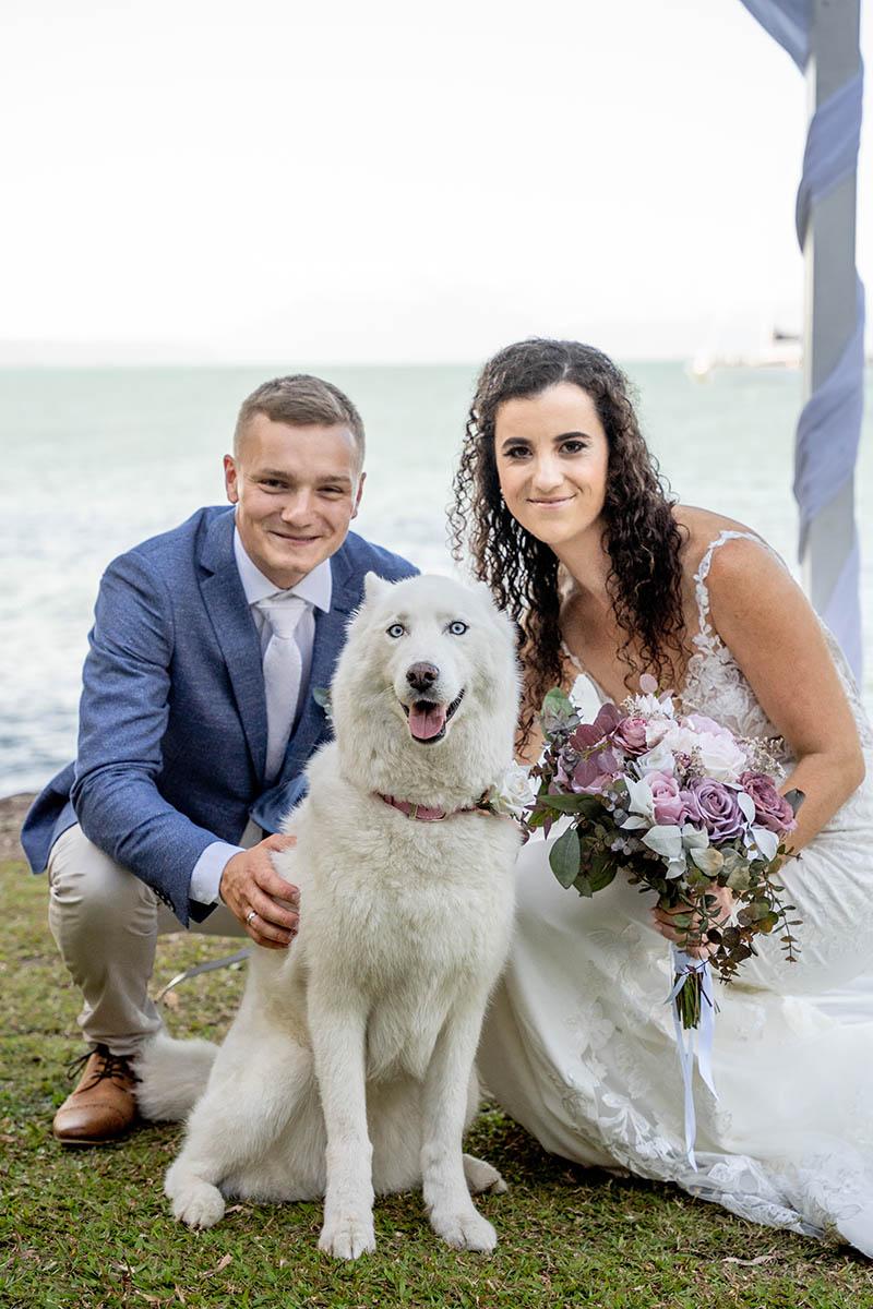 Destination Wedding Photography - couple with dog