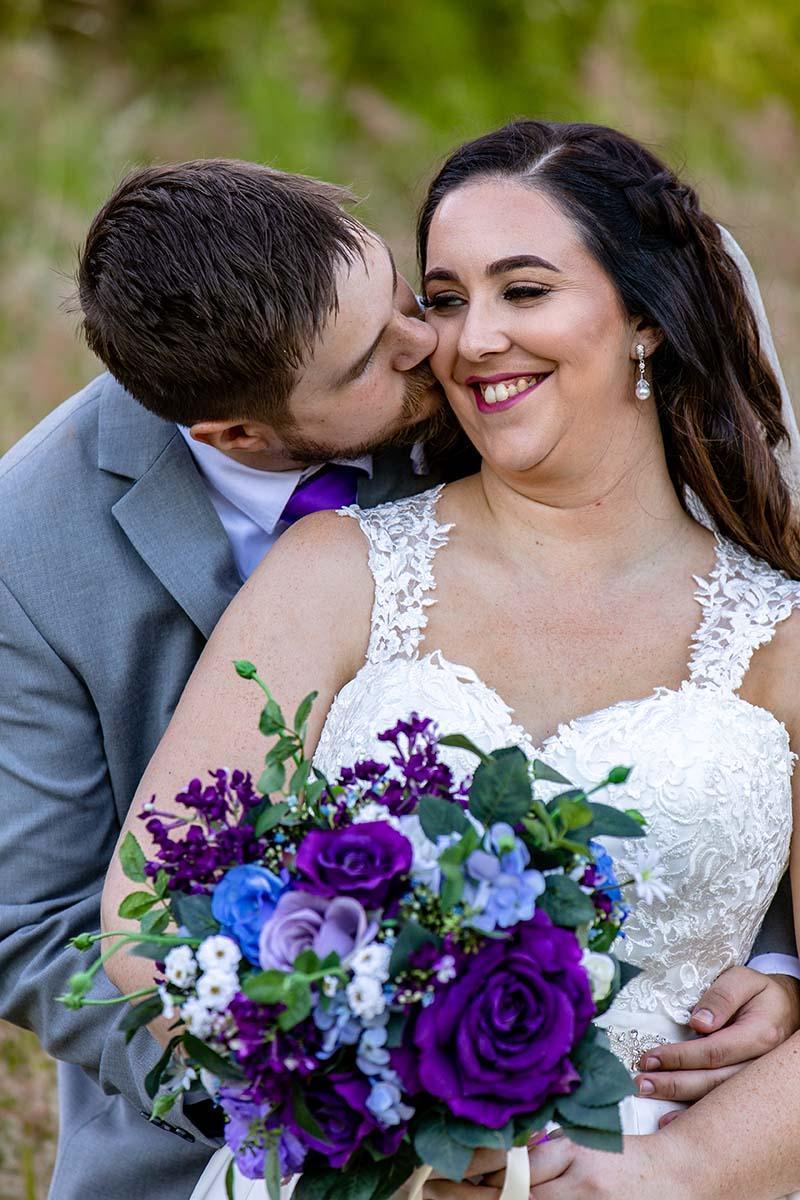 Wedding Photography - cheek kiss