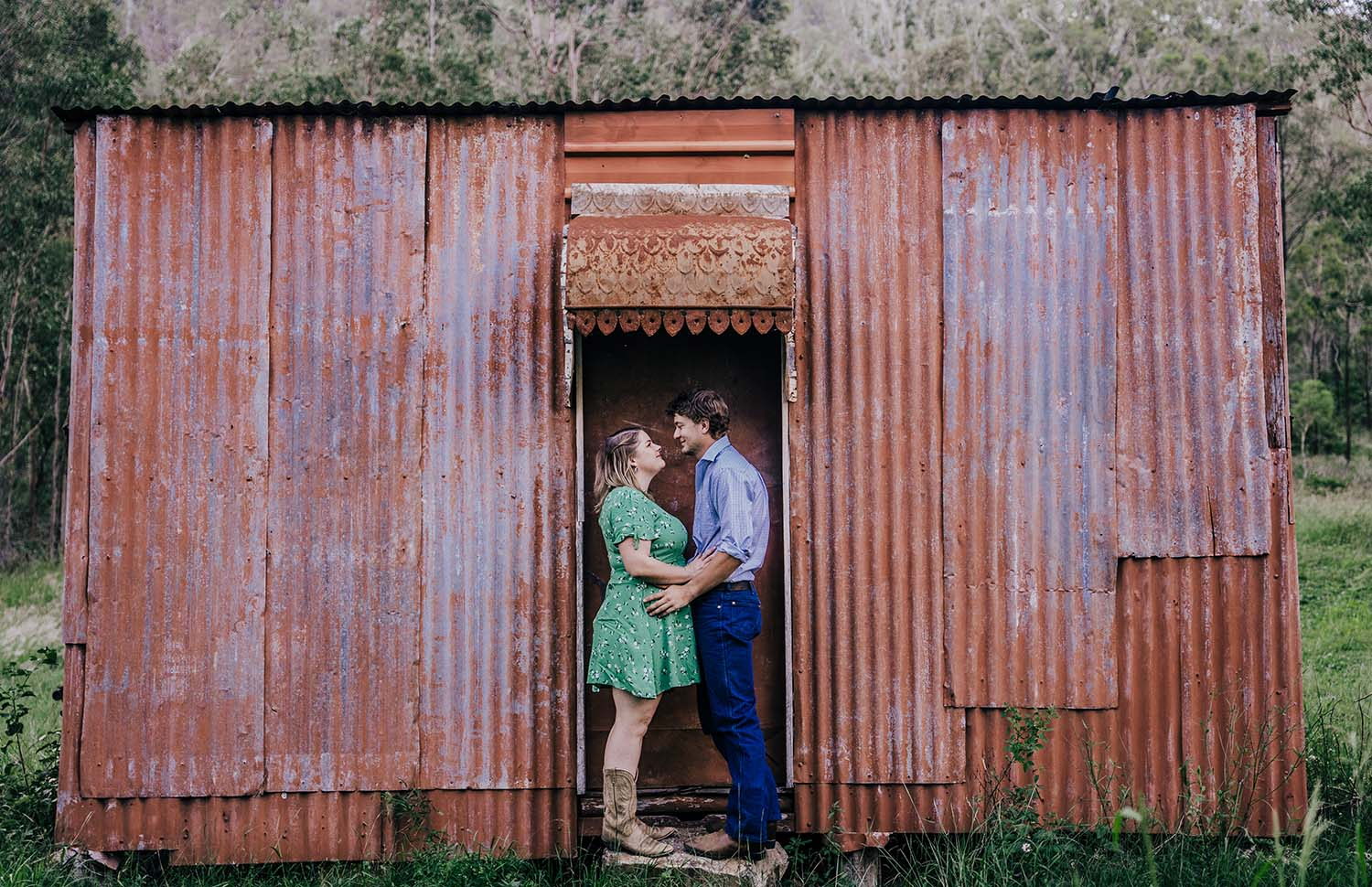 Engagement Photography - Rustic Shed