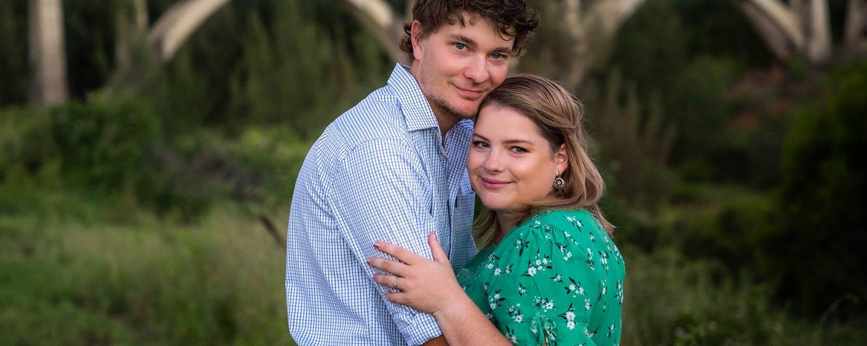 Engagement Photography - couple embracing