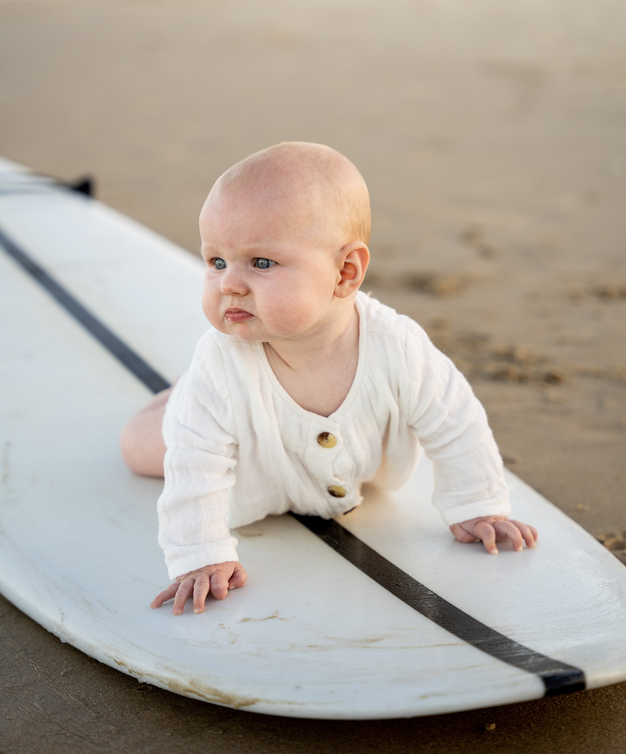 Family Photography - Baby on Surfboard