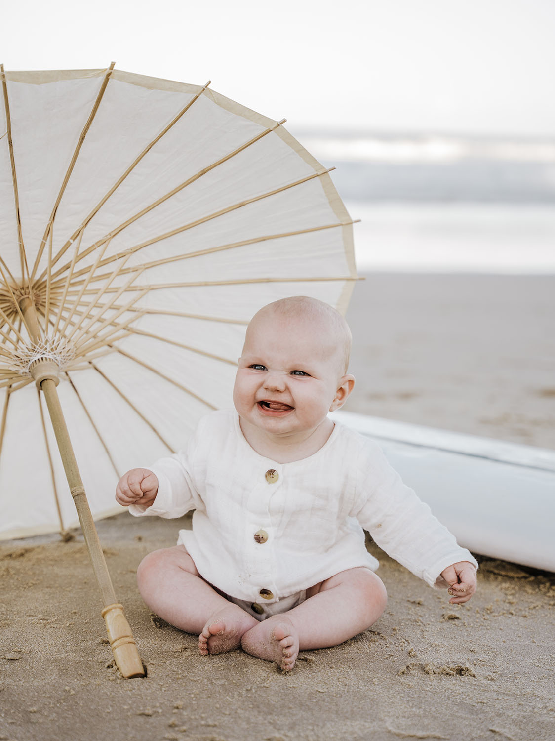 Family Photography - Baby with umbrella