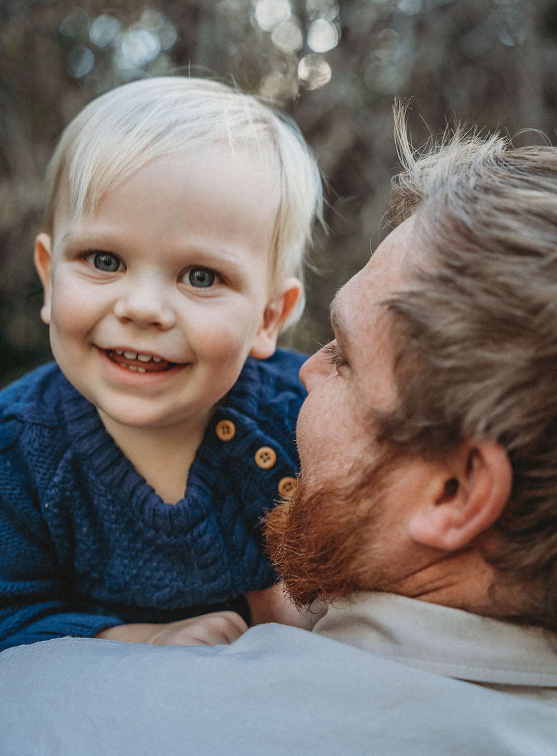 Family Photography - Father holding son