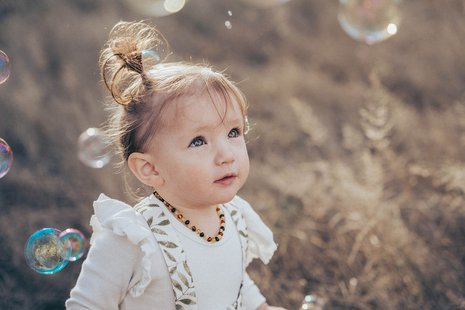 Family Photography - baby with bubbles