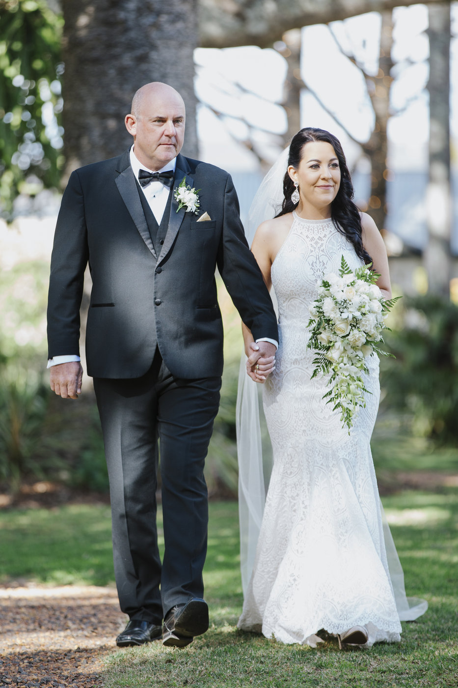 Wedding Photography ceremony bride and father