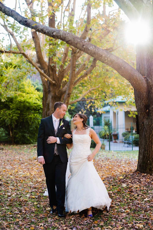 Wedding Photography Husband and wife walking