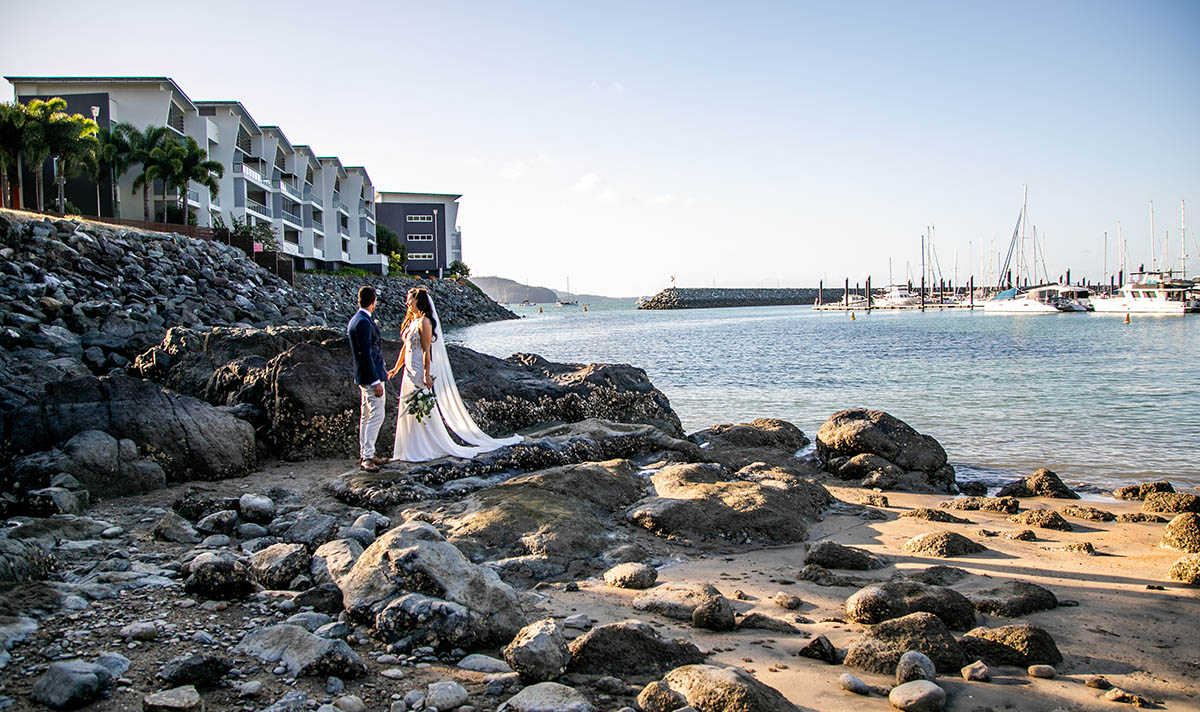 Wedding Photography - couple from a distance