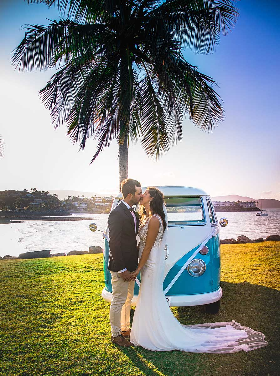 Wedding Photography - in front of Kombi