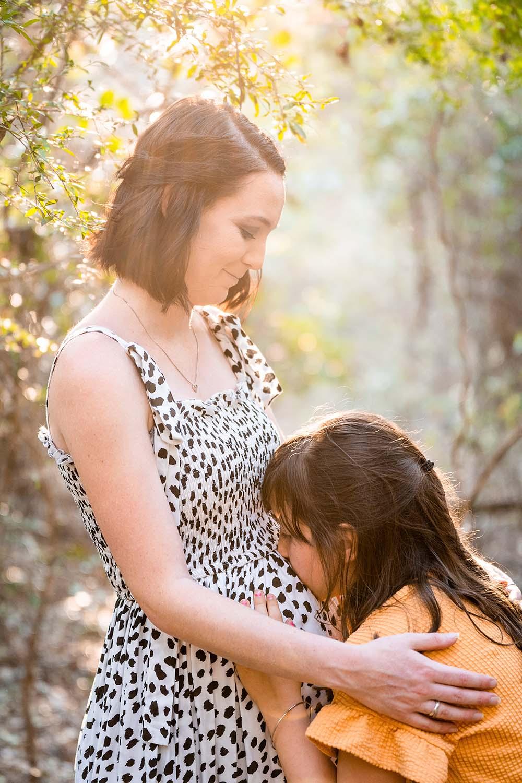 Maternity Photography - Tummy Kisses