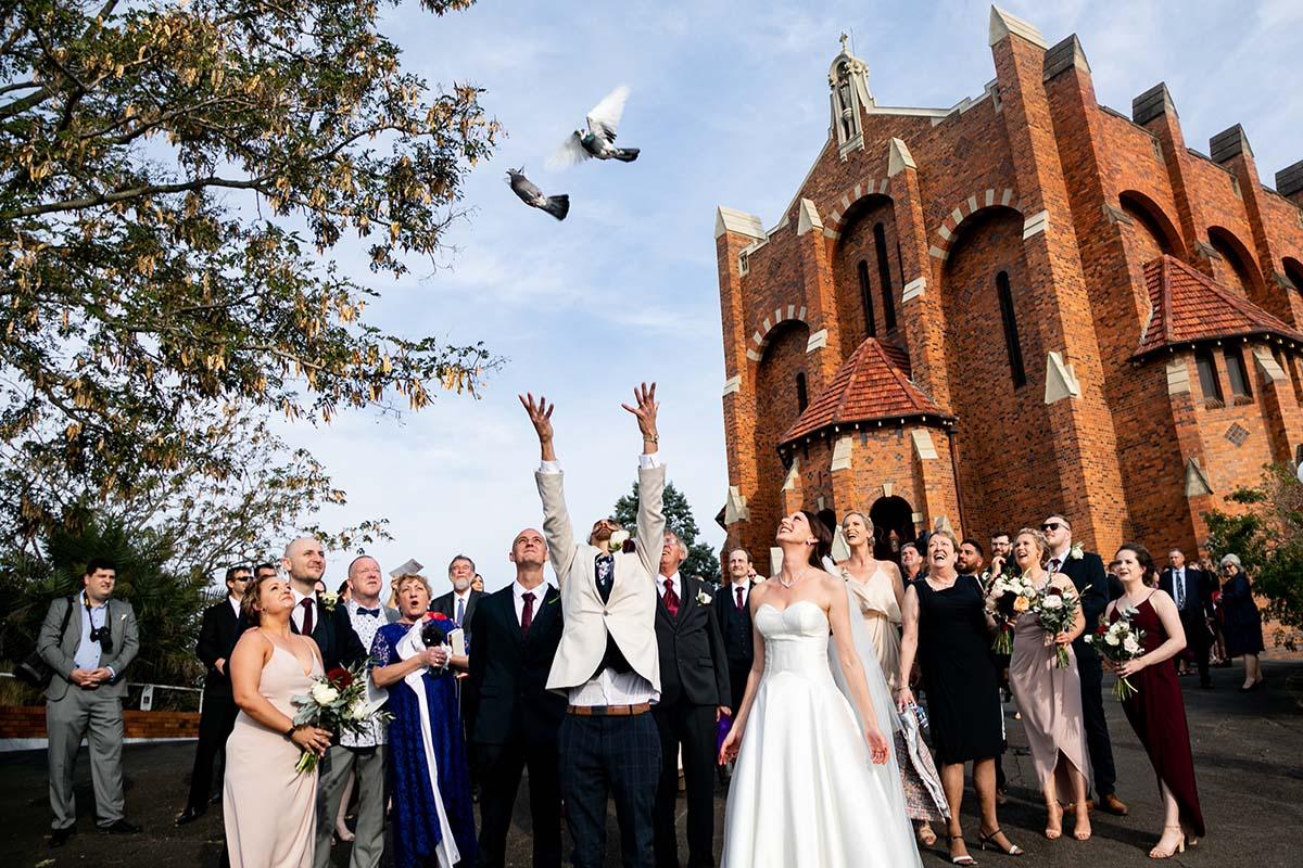 Wedding Photography - Releasing Birds