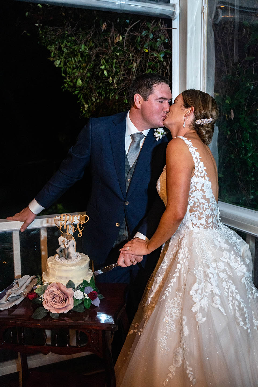 Wedding Photography - cutting the wedding cake