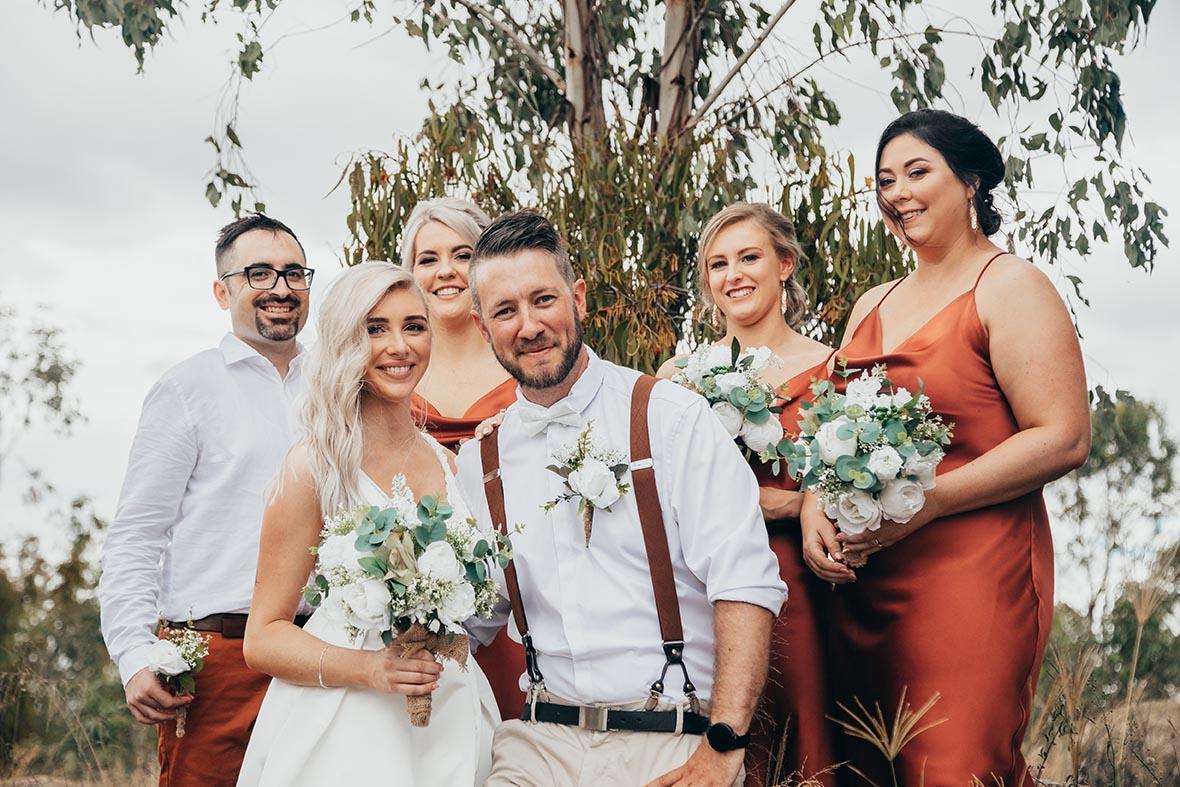 Wedding Photography - bridal party close up