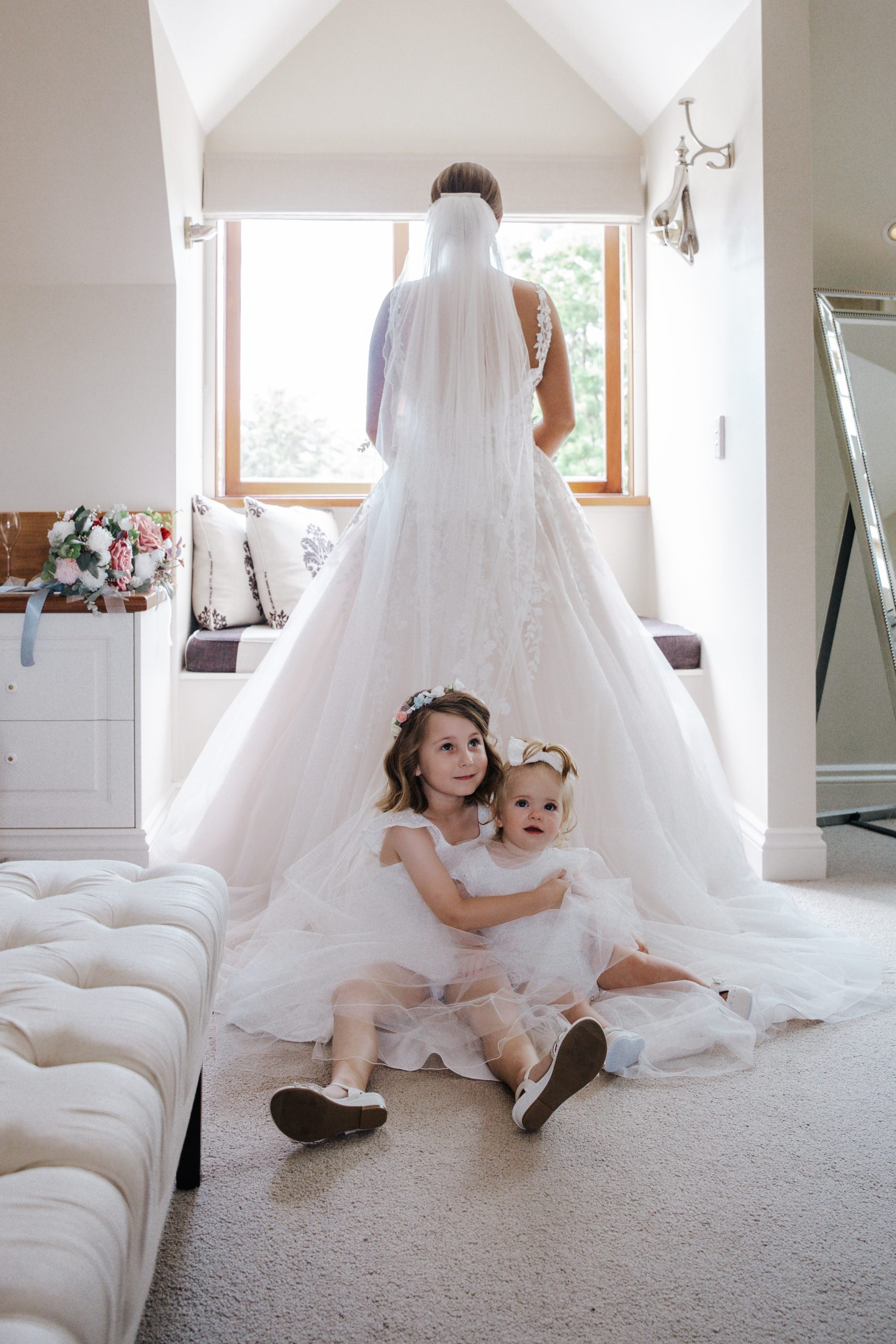 Wedding Photography - Bride and flower girls