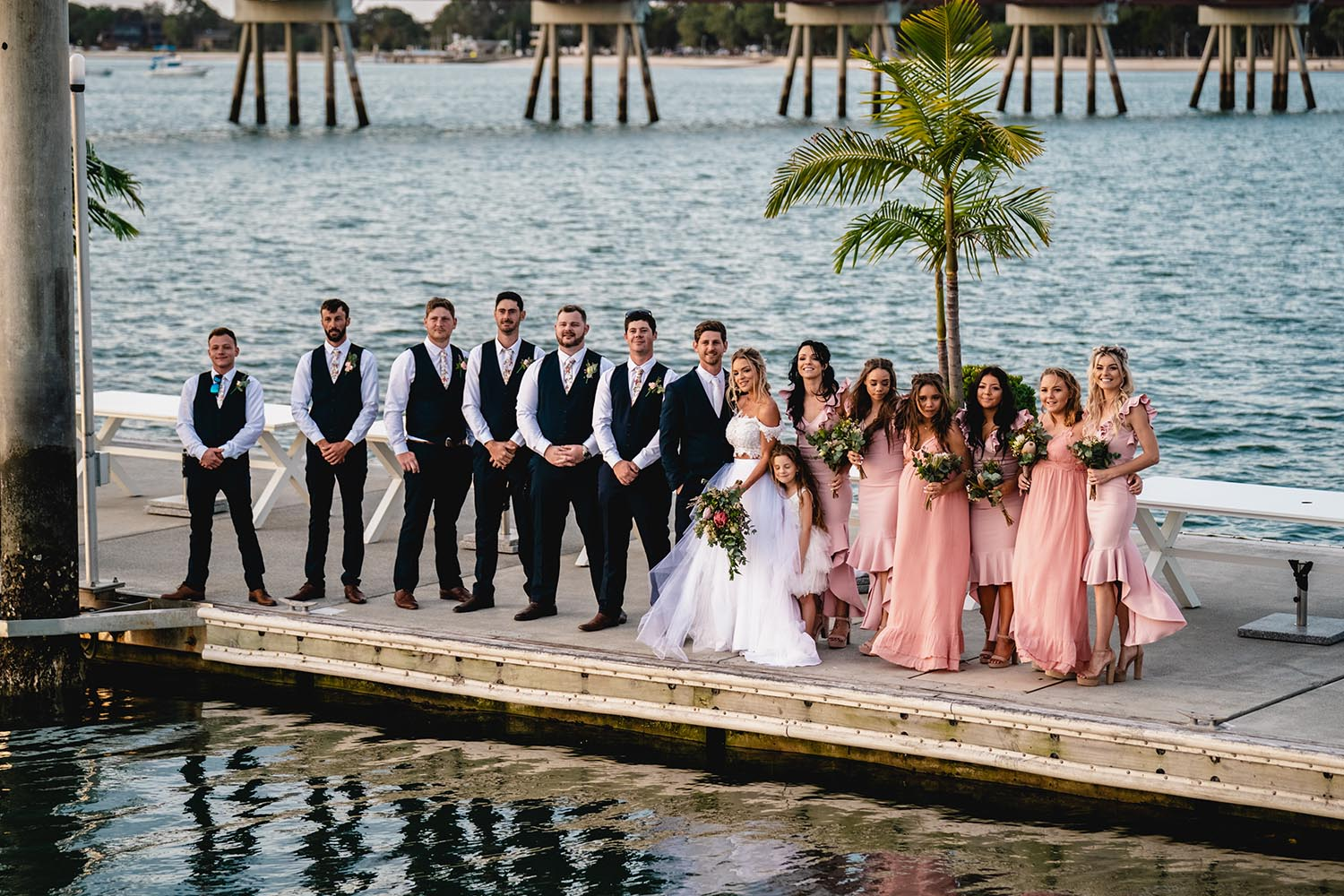 Wedding Photography - Bridal Party on Wharf