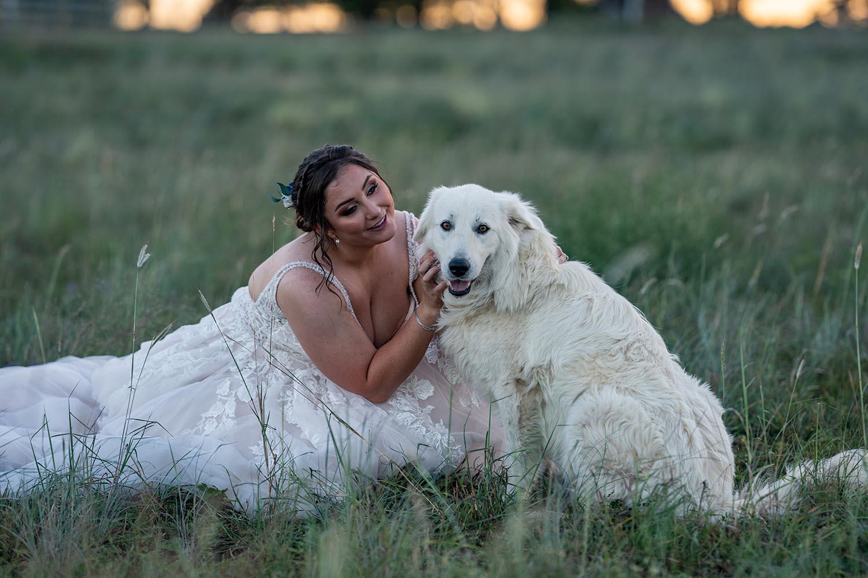 Wedding Photography - Bride with dog