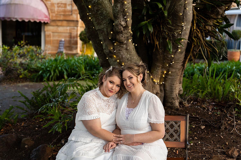 Wedding Photography - Brides embracing