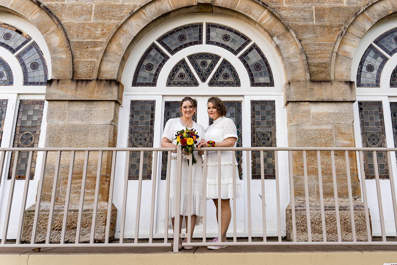 Wedding Photography - Brides on balcony