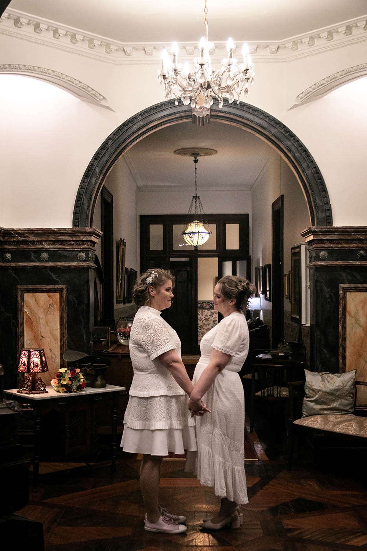 Wedding Photography - Brides under archway
