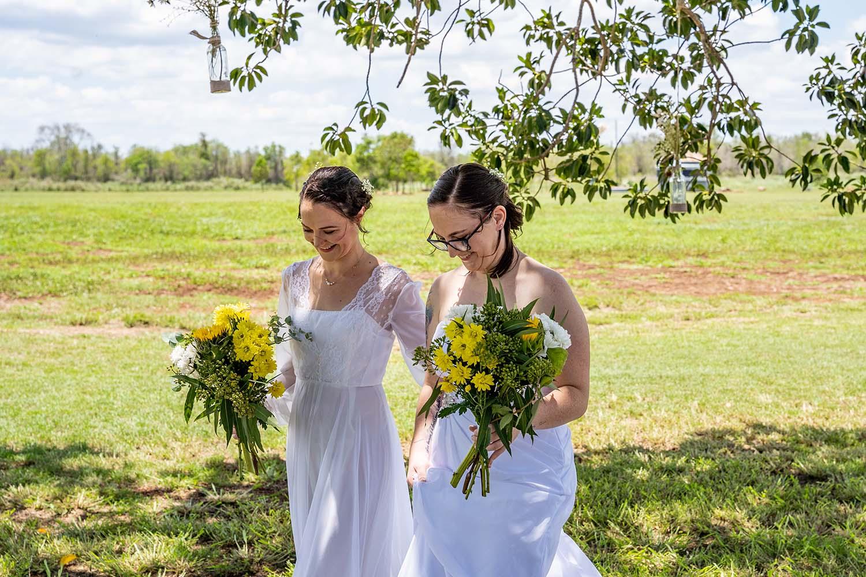 Wedding Photography - Brides walking