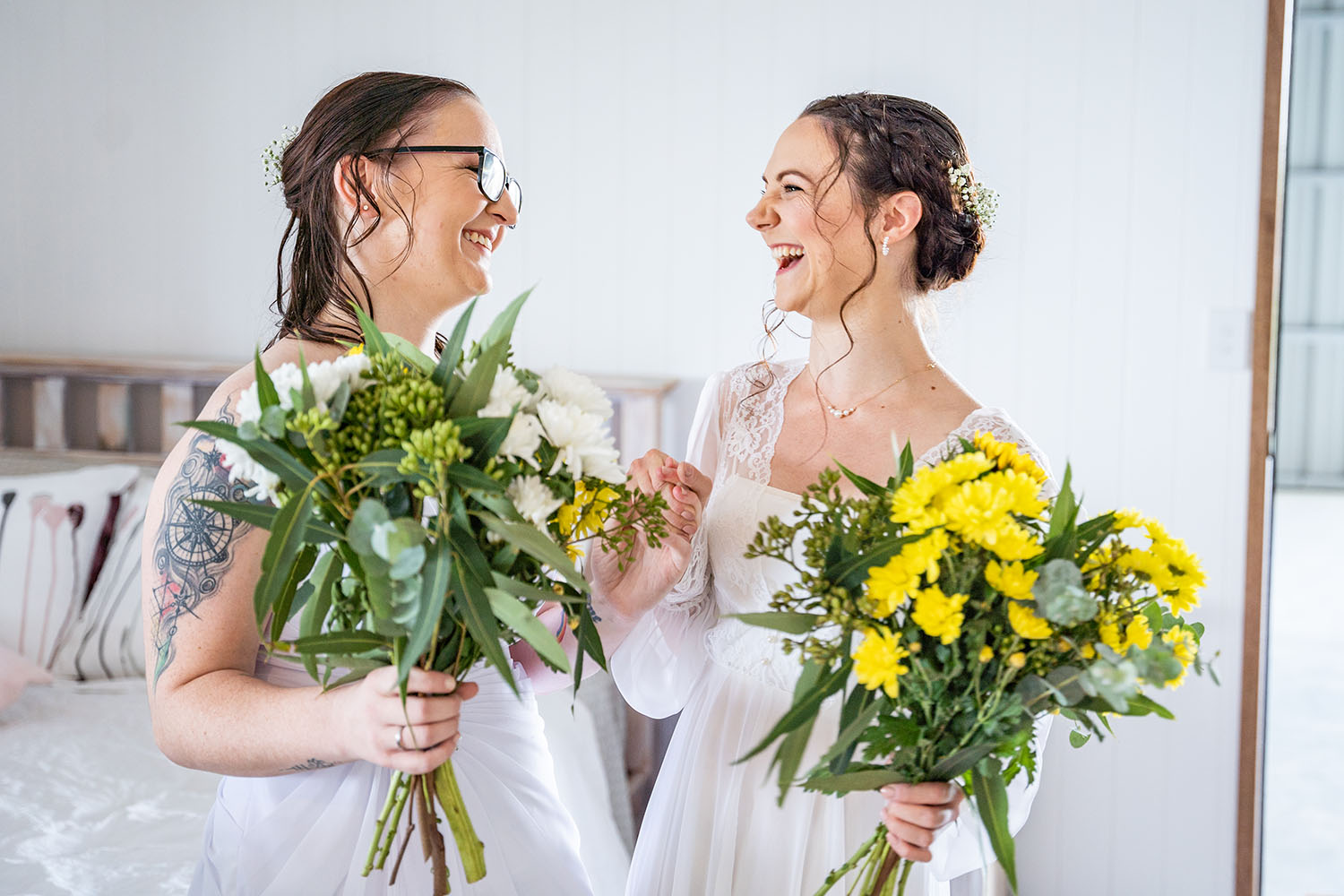 Wedding Photography - Brides with flowers