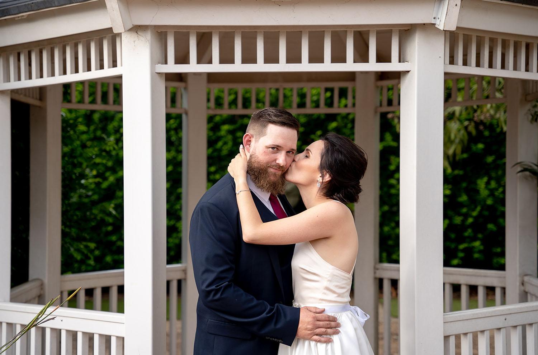 Wedding Photography - Cheek kisses