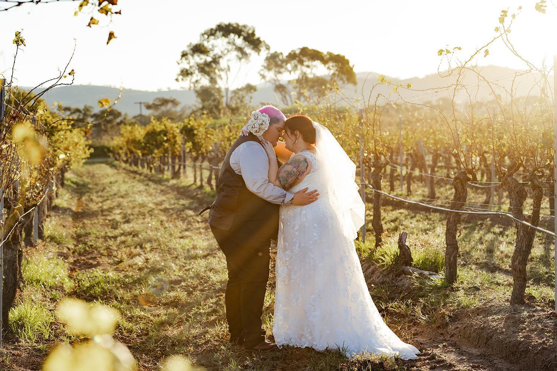 Wedding Photography - Couple in Vineyard