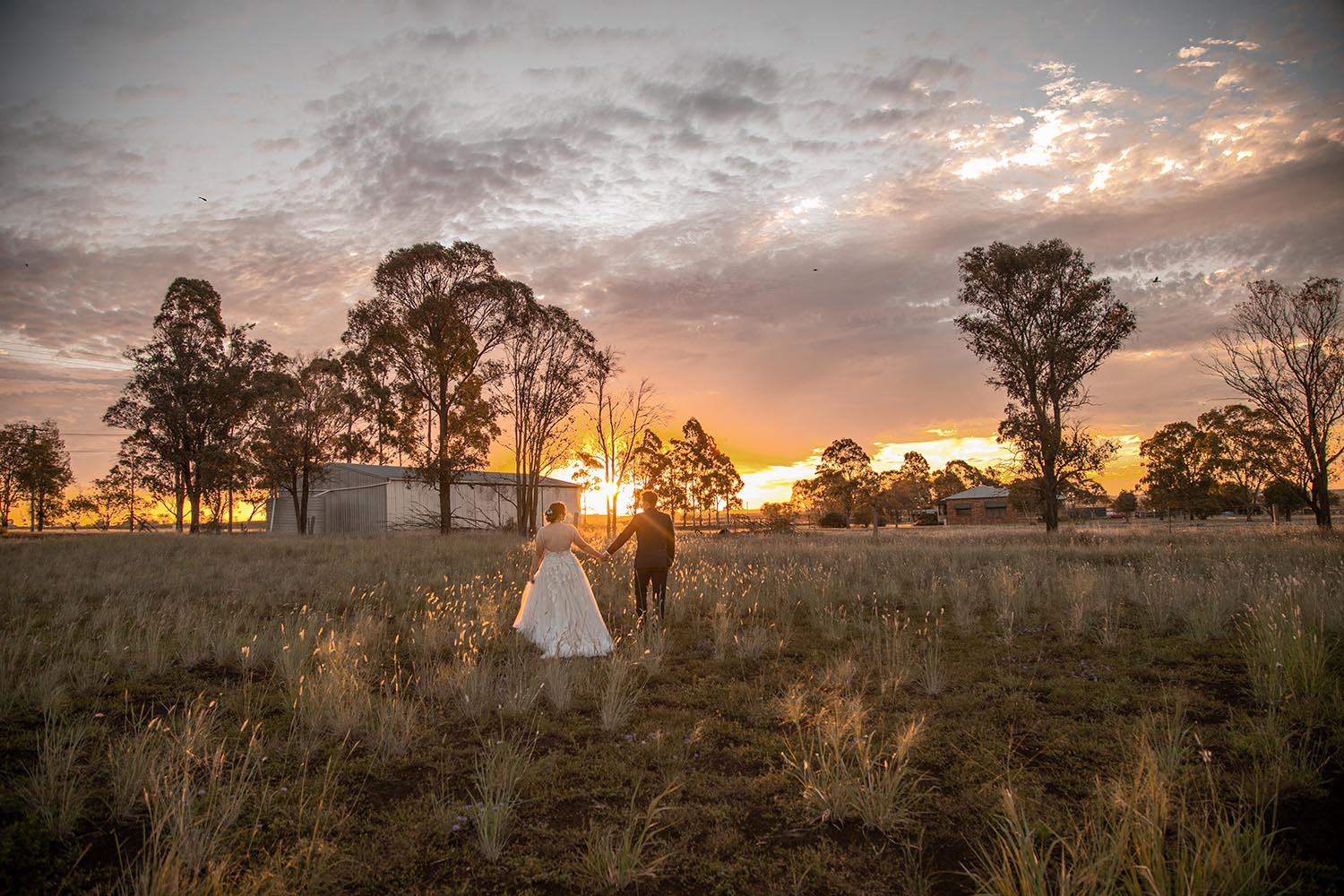 Wedding Photography - Couple in sunset