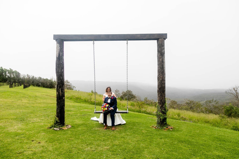 Wedding Photography - Couple on Swing