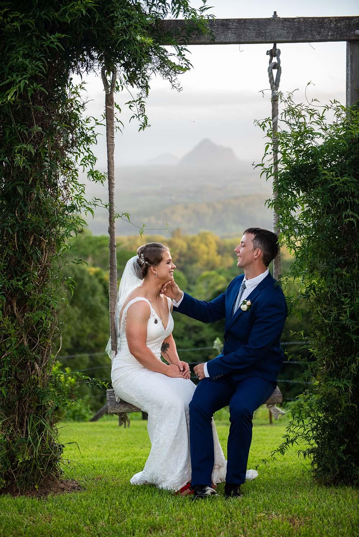 Wedding Photography - Couple on swing 2