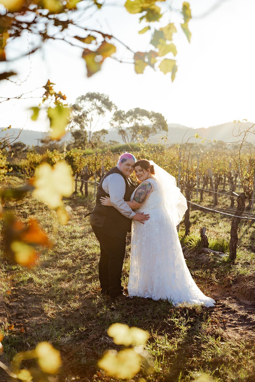 Wedding Photography - Embracing couple