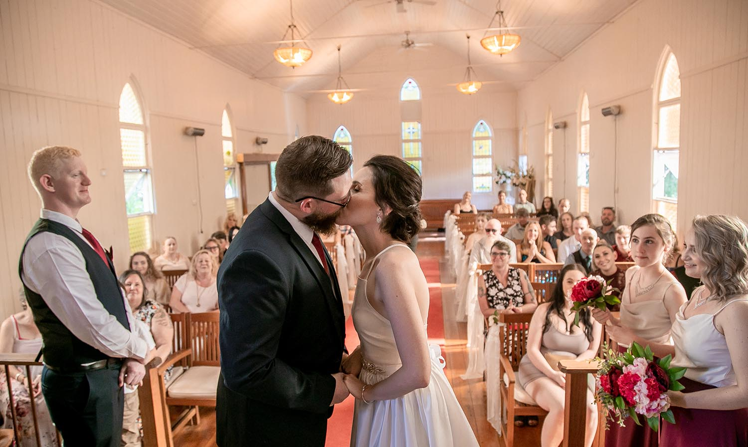 Wedding Photography - First Kiss as husband & wife
