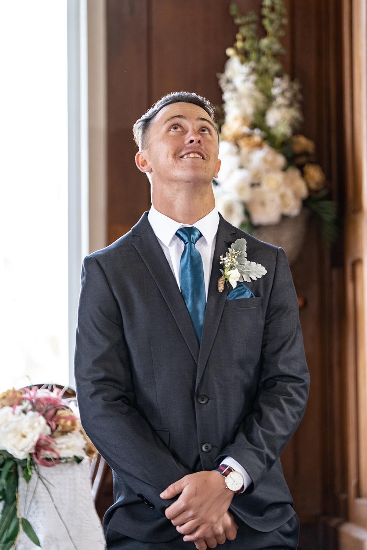 Wedding Photography - Groom reaction
