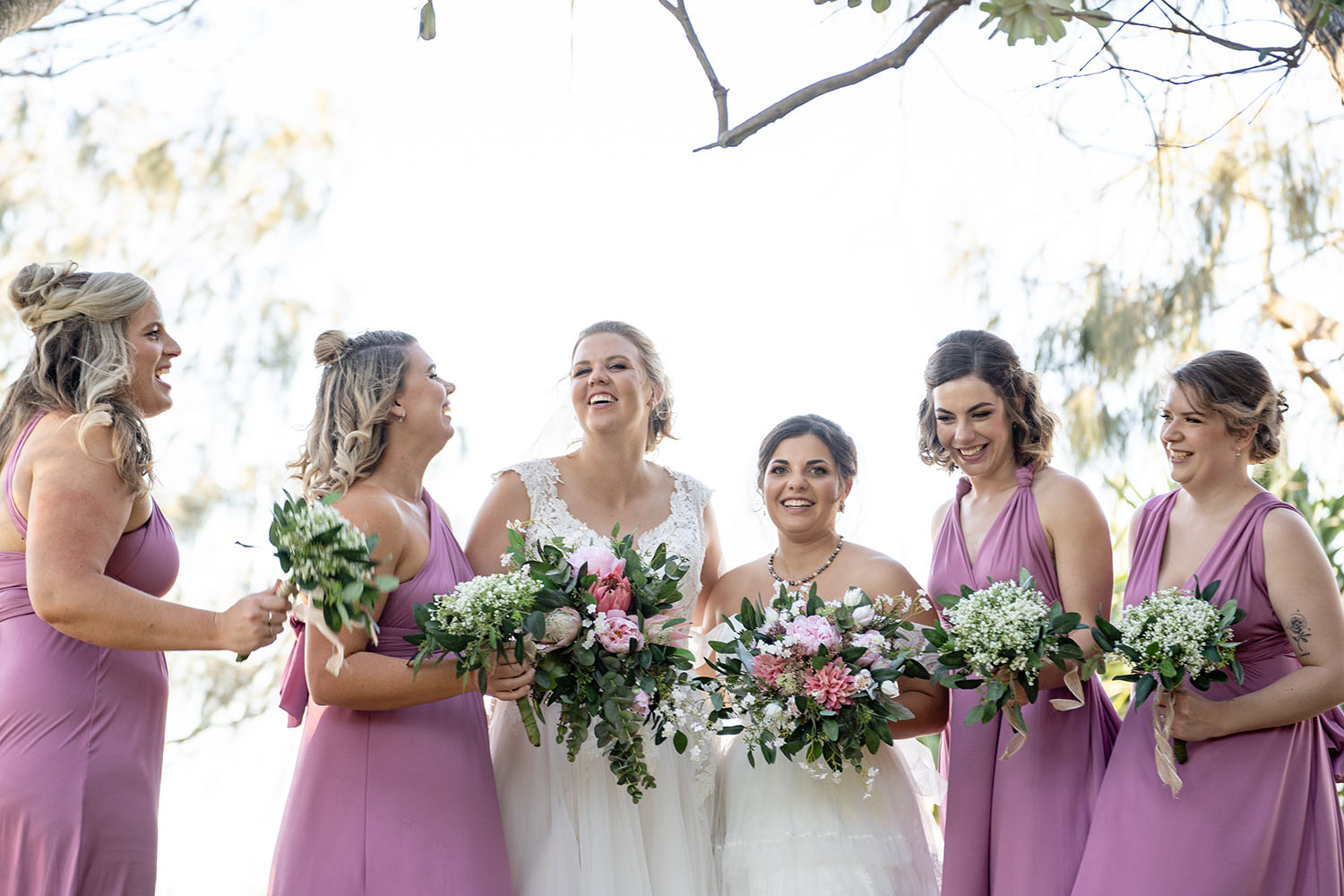 Wedding Photography - Laughing Bridal Party
