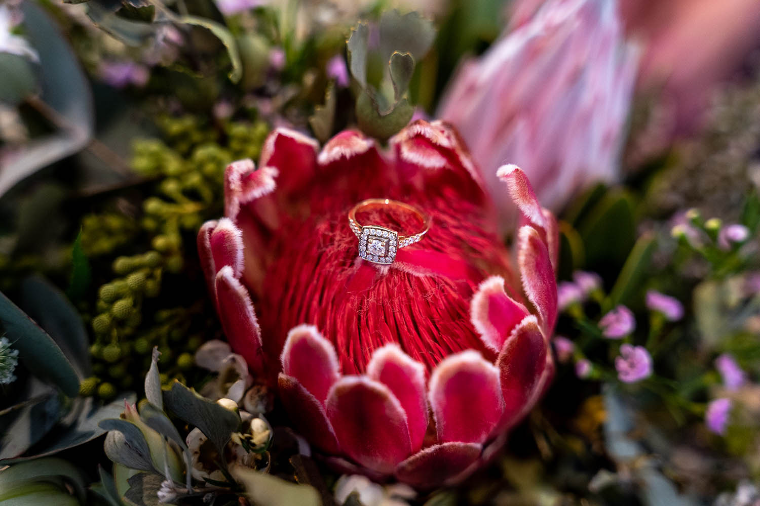 Wedding Photography - Ring and Flowers