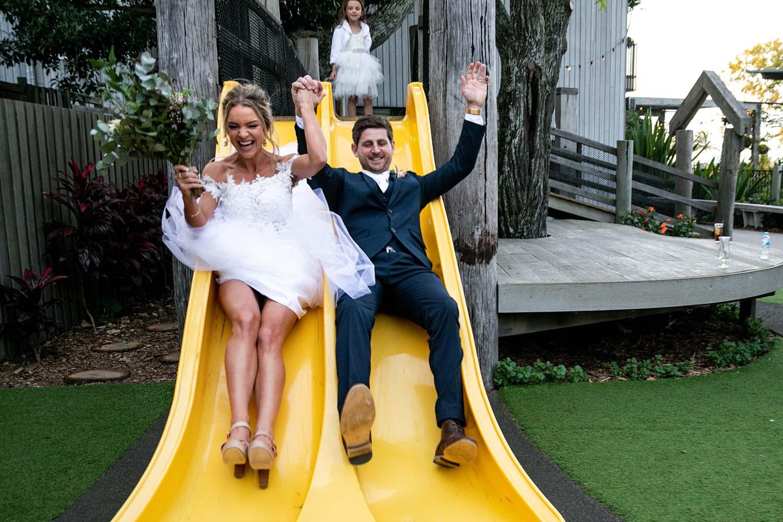 Wedding Photography - Slide fun