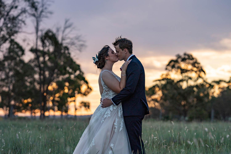 Wedding Photography - Sunset Kisses