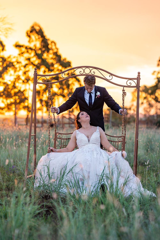 Wedding Photography - Sunset on the swing
