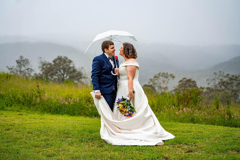 Wedding Photography - Together under umbrella