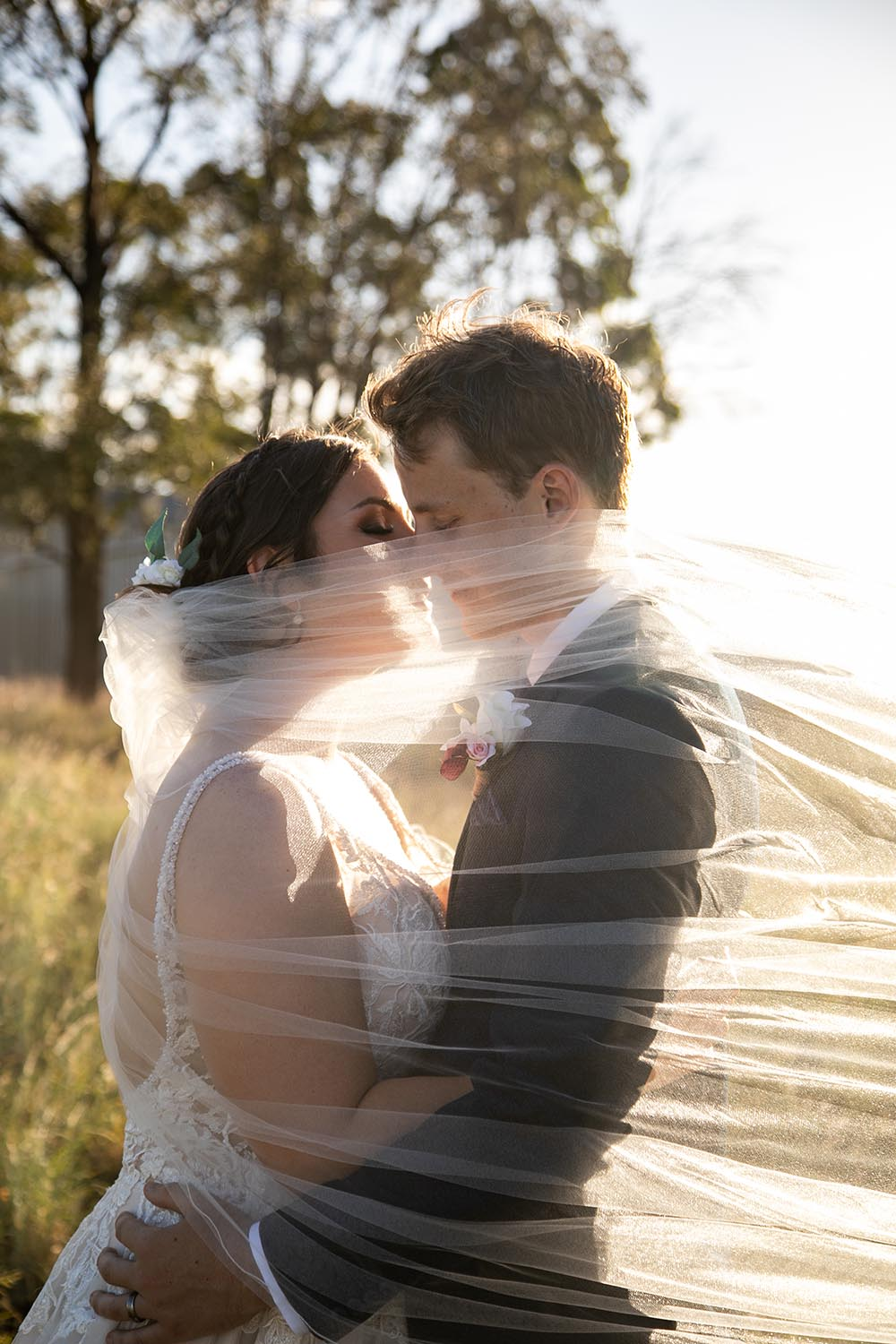 Wedding Photography - Wind blowing Veil