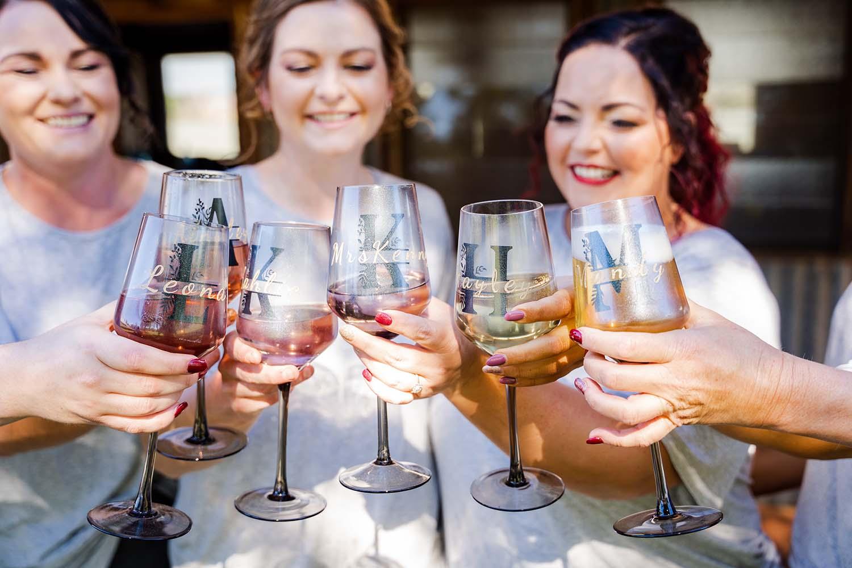 Wedding Photography - bridal party celebrating