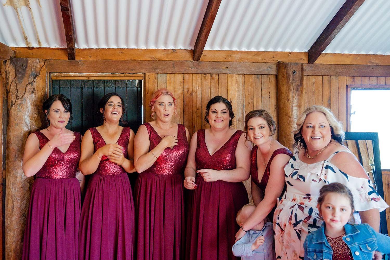 Wedding Photography - bridesmaids reactions