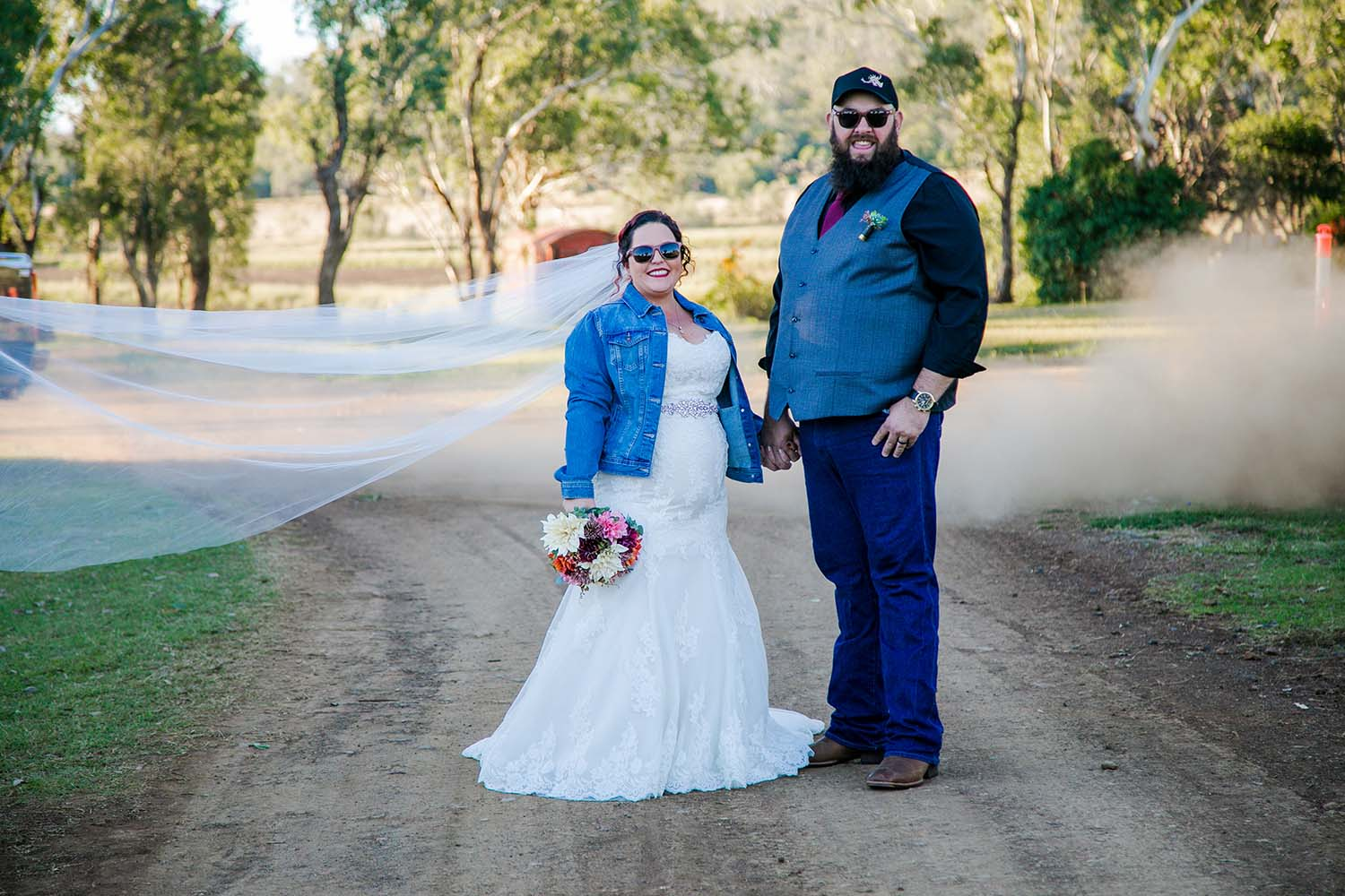 Wedding Photography - couple on dirt road